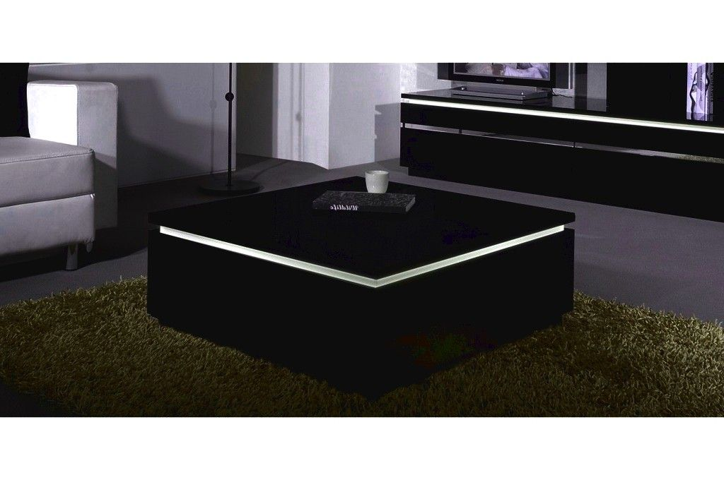 Table Basse Carree Noir Laquee Agora 1
