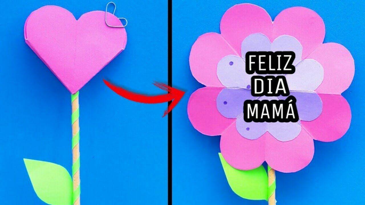 Tarjetas Pop Up De Flores Diy Regalos Para Mama Faciles Y Rapidos Ca Tarjetas Faciles Tarjetas De Origami Regalos Faciles De Hacer