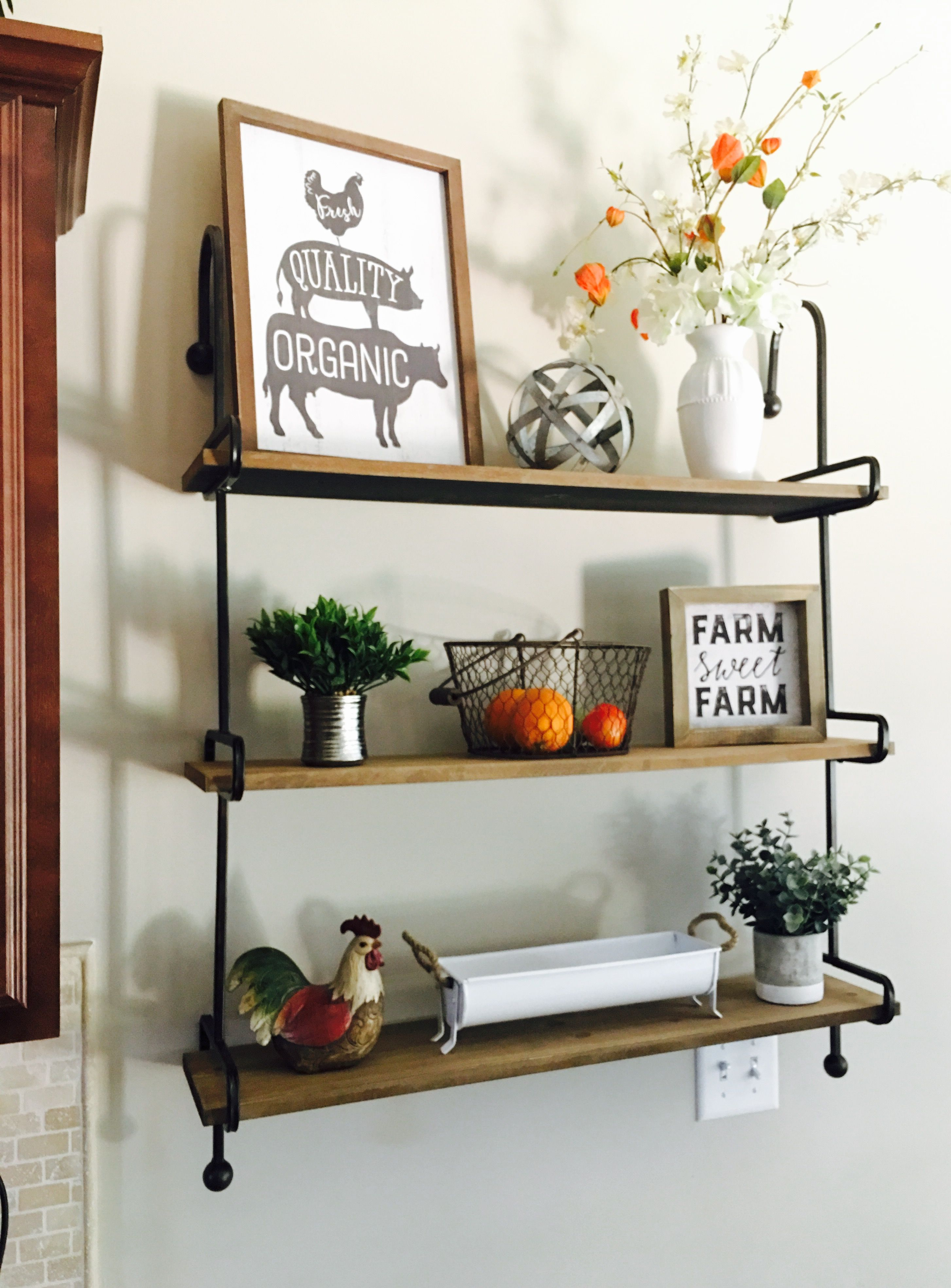 Love these new farmhouse shelves I got at Kirklands for my ...