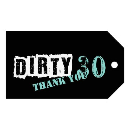Tiffany Blue Dirty 30 Thirtieth Party Gift Tags