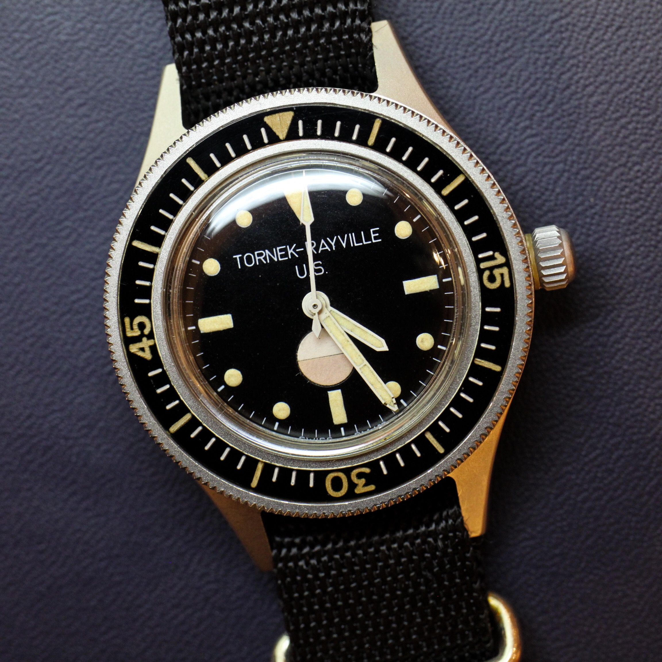 123553a9cda Blancpain Fifty Fathoms made for the U.S. Navy and signed Tornek-Rayville   blancpain
