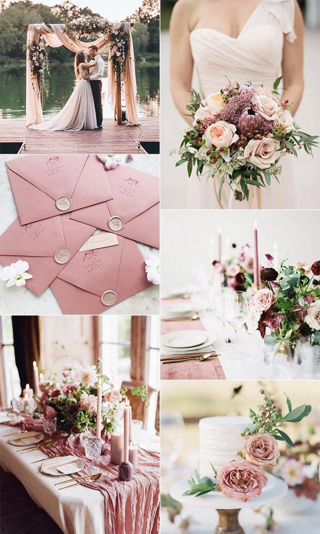 ROMANTIC DUSTY ROSE WEDDING IDEAS