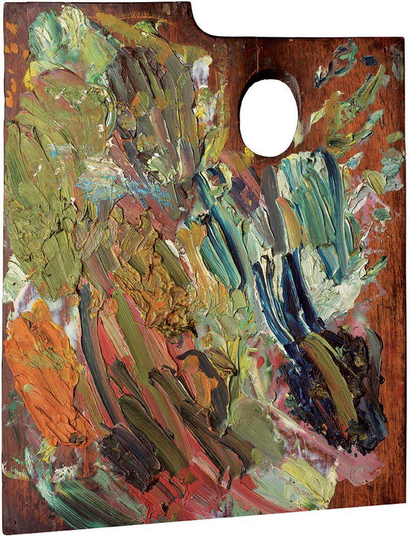 Van Gogh's palette, More artist palettes here: http://www.thisiscolossal.com/2015/05/paint-palette-portraits-matthias-schaller/