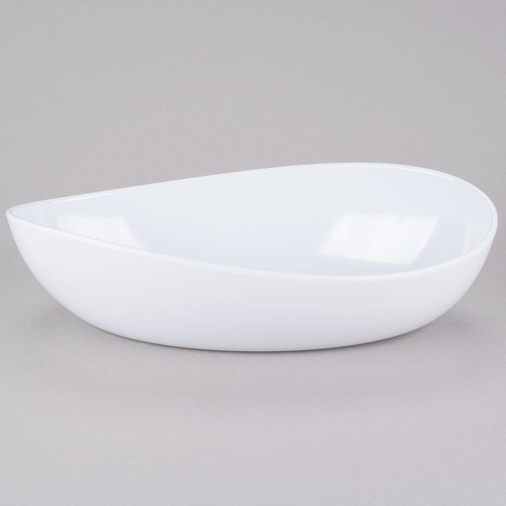 Osslo White 6 Qt Oval Bowl 16 75 Inch X 10 Inch 3 5 Inch Deep Bowl Melamine Mixing Bowls Oval