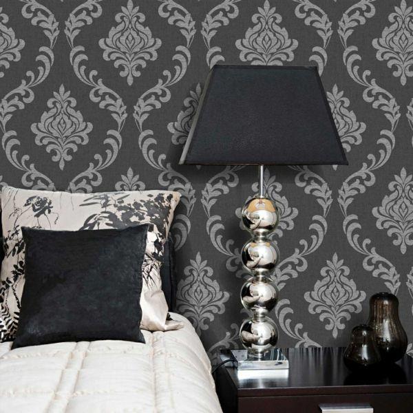 Tapete Schlafzimmer Wände Verkleiden Barock Stil Elegant