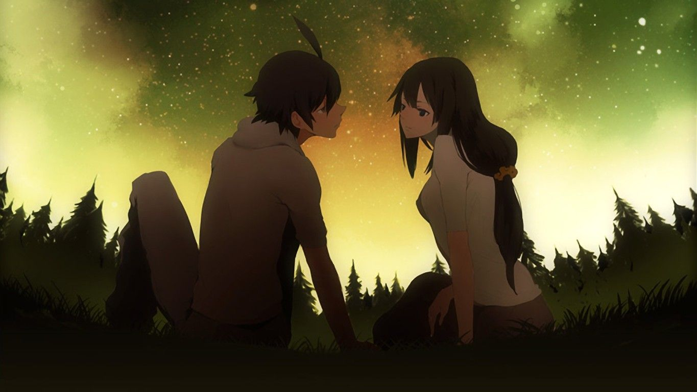 Anime Couple Hd Backgrounds Free Download Latest Anime Couple Hd Backgrounds For Computer Mobile Iphone Ipad Or Any Anime Casal Papel De Parede Computador