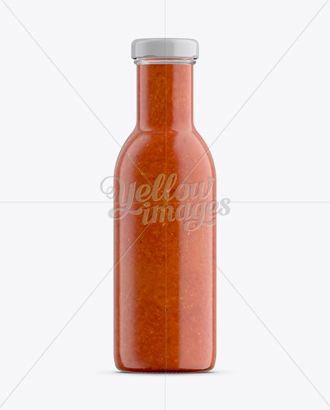 Download Chili Sauce Glass Bottle Mockup In Bottle Mockups On Yellow Images Object Mockups Bottle Mockup Bottle Glass Bottles PSD Mockup Templates