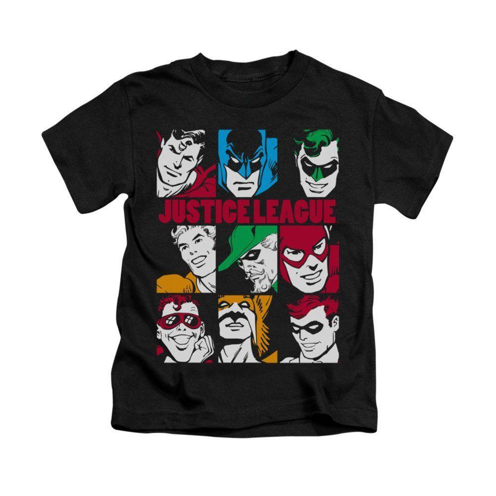 Justice League Nine Blocks Of Justice Kids TShirt Justice kids