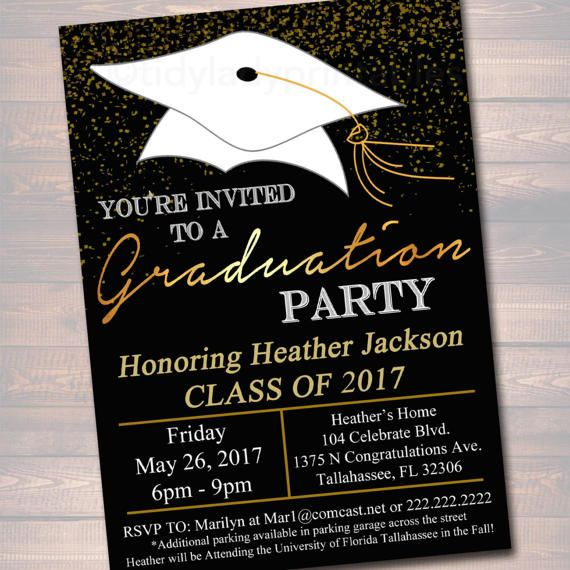 Editable Graduation Party Invitation High School Diy Digital Invite College Decor