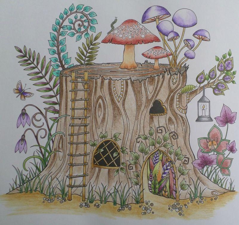 Coloriage Maison Dans La Foret.Maison Arbre Steffy Elsass Crea Adult Coloring 5