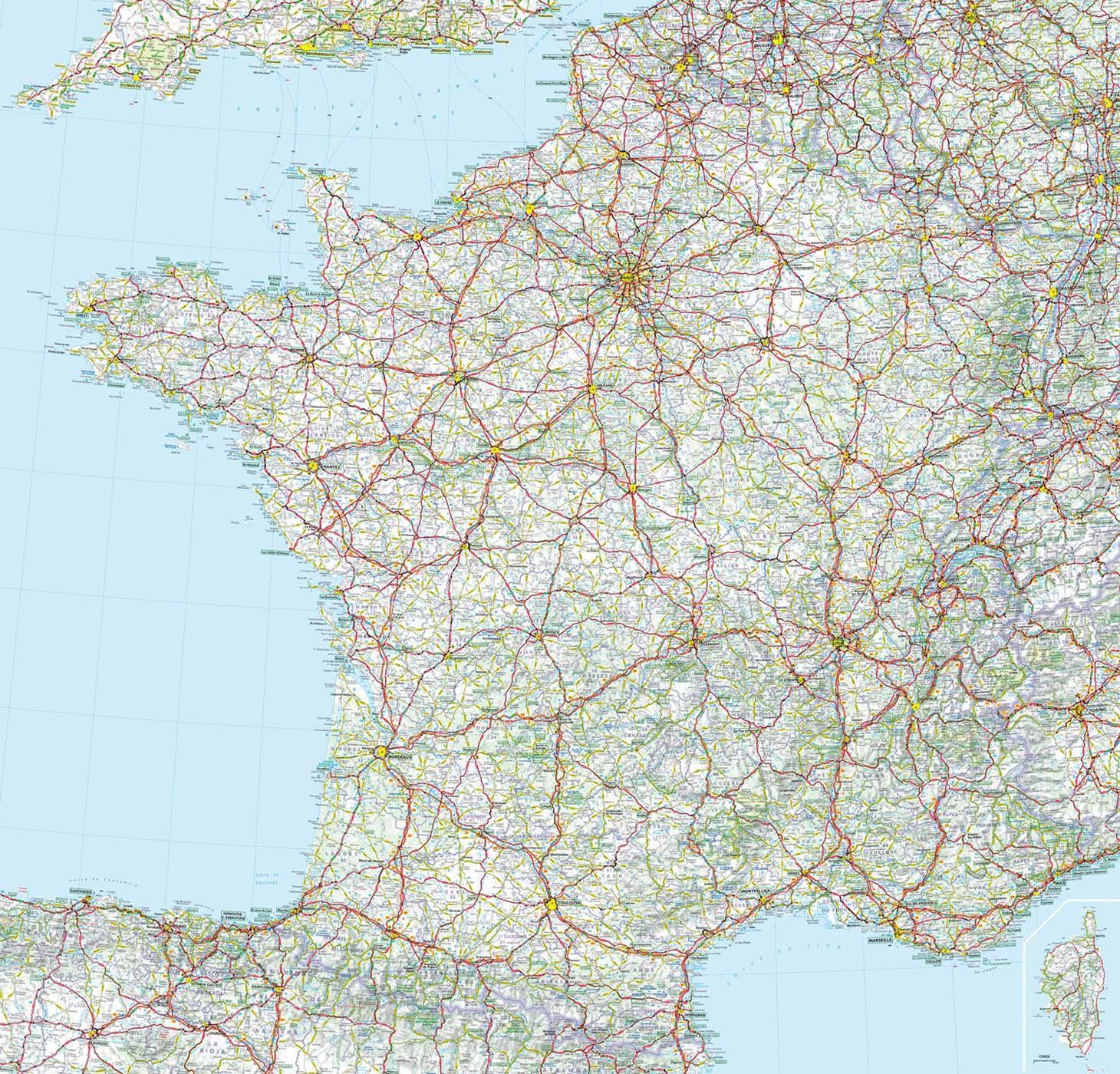 Carte De France Grandes Routes Michelin Carte De France Carte Routiere France Carte Et Plan