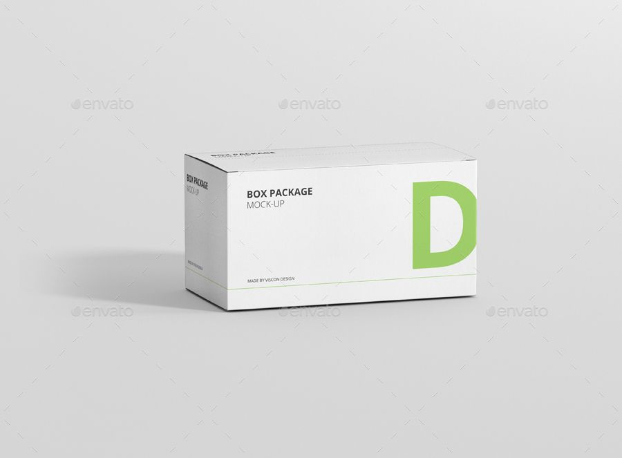 Download Package Box Mock Up Wide Rectangle Box Mockup Box Design Rectangle