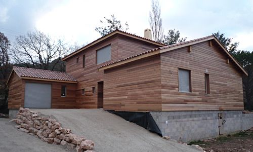 maison-ossature-bois-vue3-4-constructeur-biohome MOB Pinterest