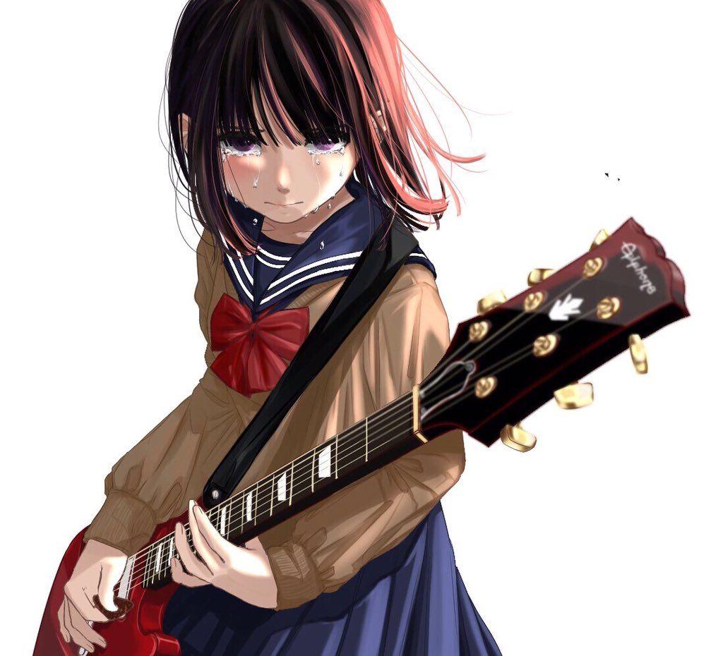 """ひなこ on Twitter """"「 ほんと、何にも解ってないのね。」… """" Guitar girl, Art"""