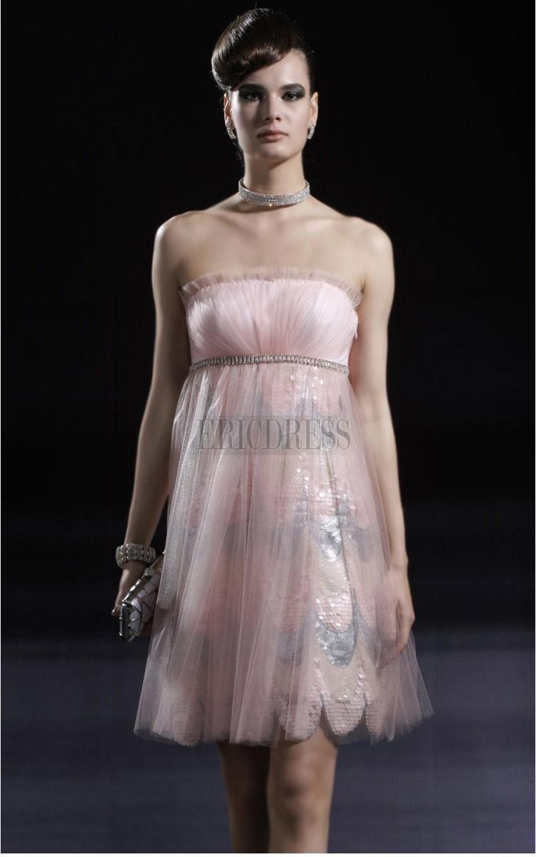 Fresh aline minilength strapless promhomecoming dress ericdress