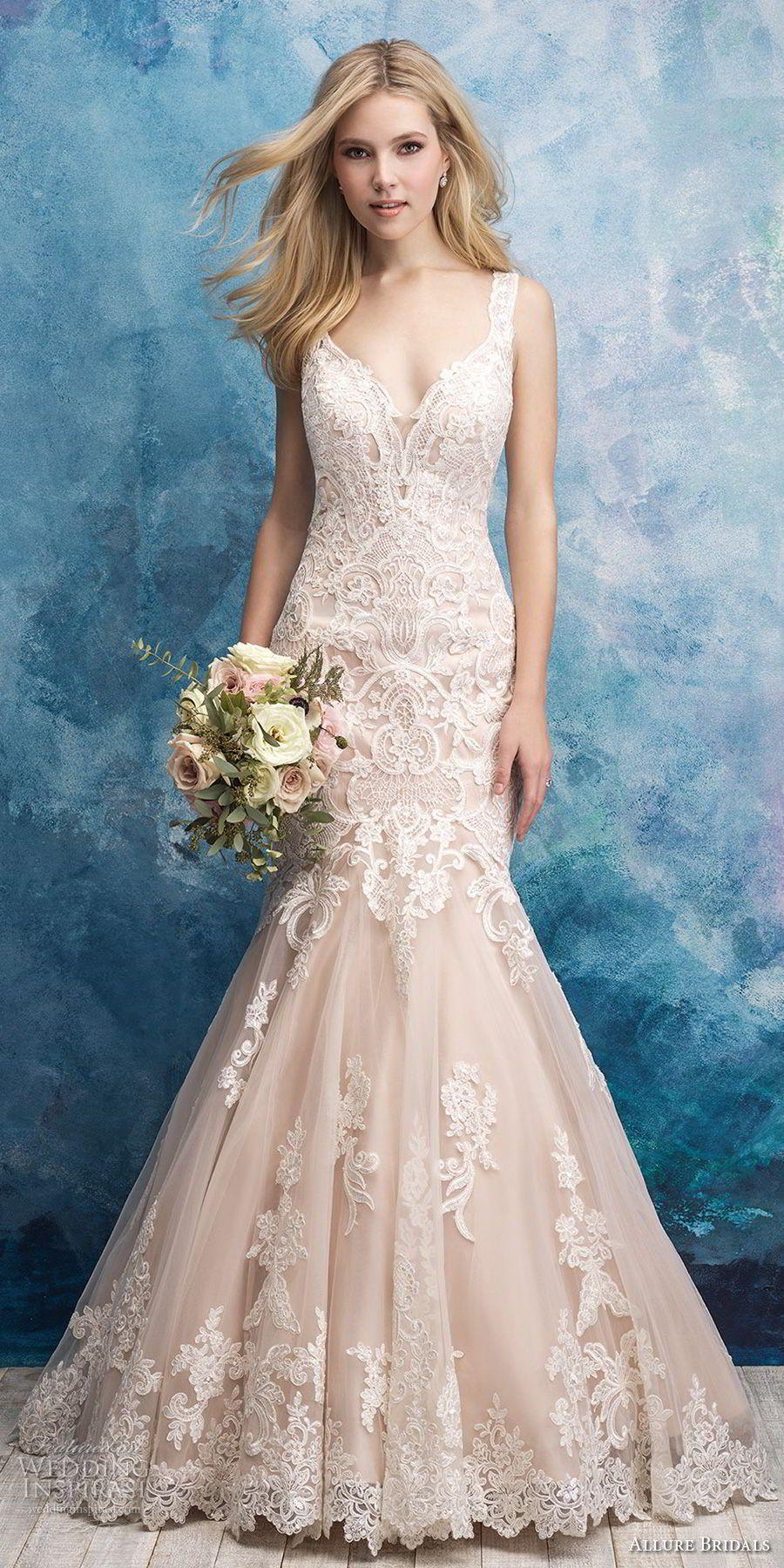 Allure Bridals Fall 2018 Wedding Dresses | Allure bridal, Mermaid ...