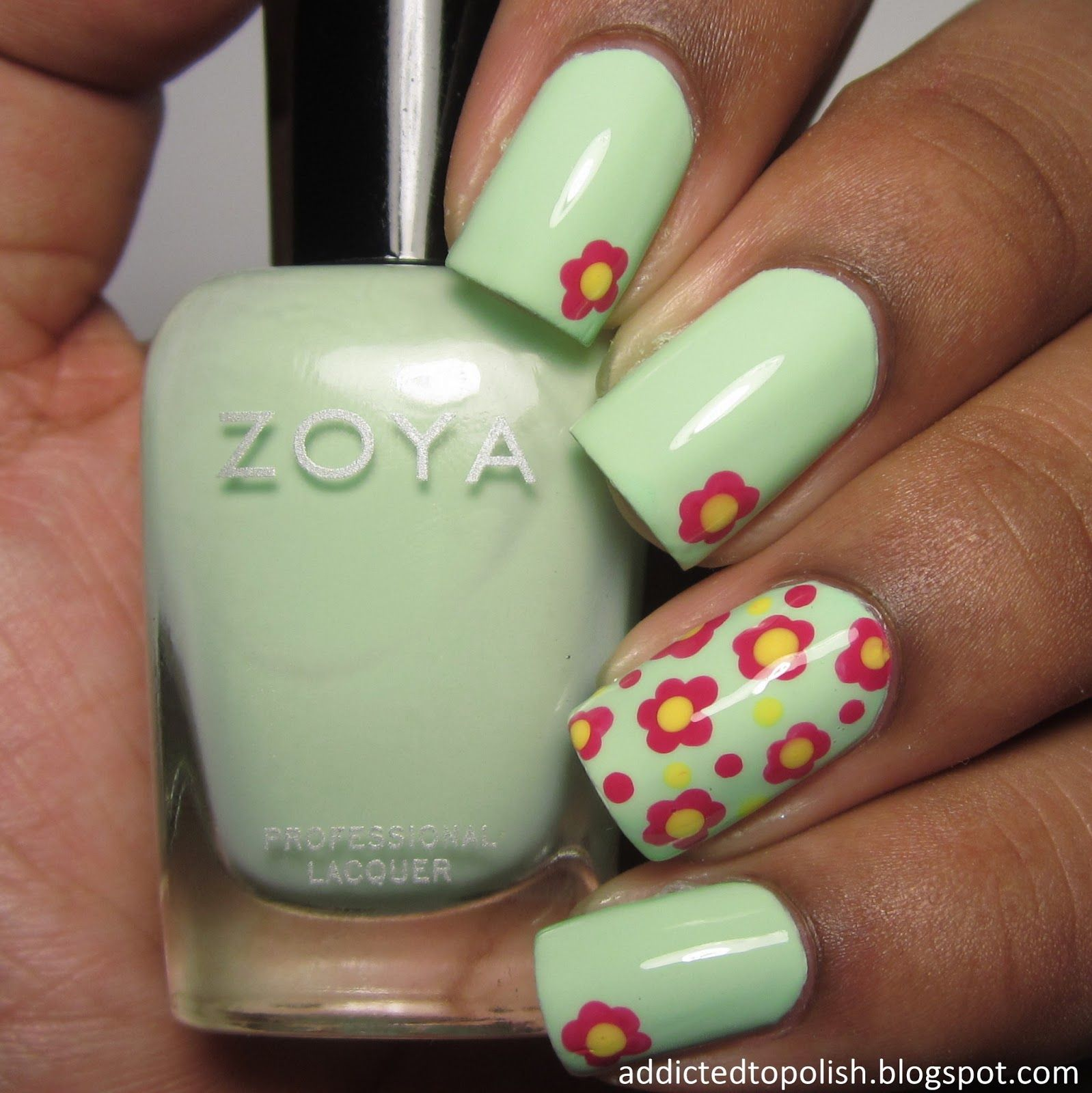 Zoya Tiana Nail Art | Addicted to Polish | Uñas Kiara | Pinterest ...