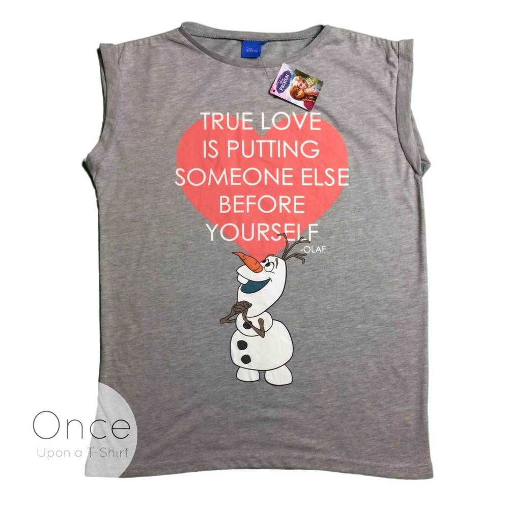 Love Quotes Clothing Adult Ladies Disney Frozen Olaf True Love Quote T Shirt From