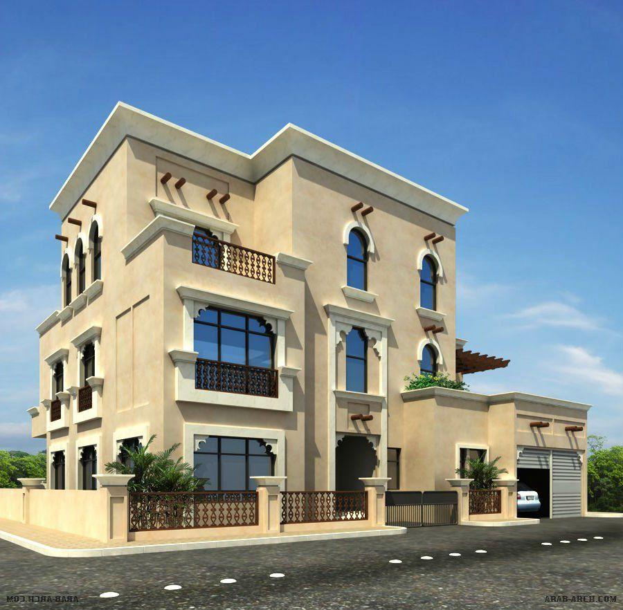 واجهة فيلا في قطر Islamic Architecture Architecture Building House Styles