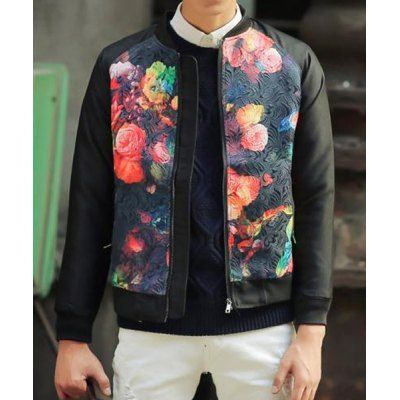 Clothes Type: Jackets  Material: Polyester, Cotton  Collar: Mandarin Collar  Clothing Length: Regular  Style: Fashion  Weight: 1KG  Sleeve Length: Long Sleeves  Season: Winter  Package Contents: 1 x Jacket  Size	Bust	Length	Shoulder Width	Sleeve Length M	96	60	41	68 L	100	62	42	69 XL...