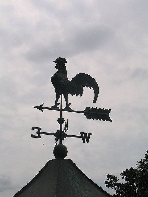 Weather Vane On Top Of The Hen House Weather Vanes Old Things Whirligig