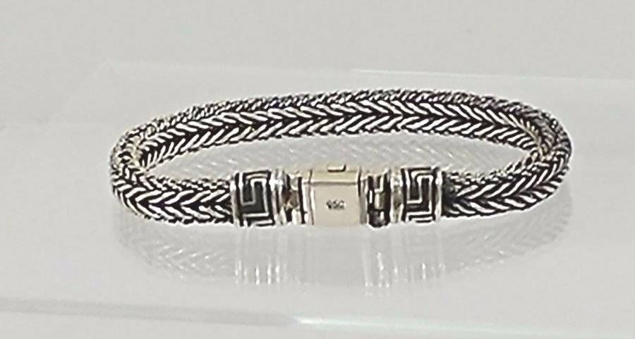 Brand New Men S 950 Silver Wheat Bracelet 8 Taxco Mexican Uni Handmade