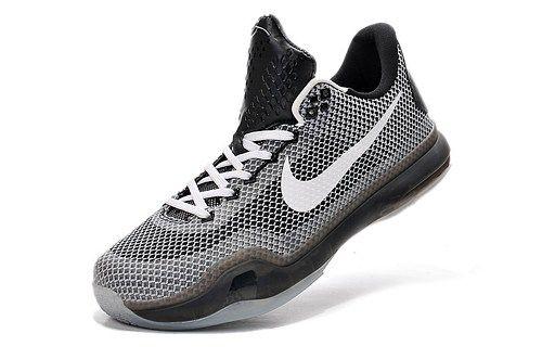 2015 Nikes Zoom Kobe X EM XDR (10) men basketball shoes grey white