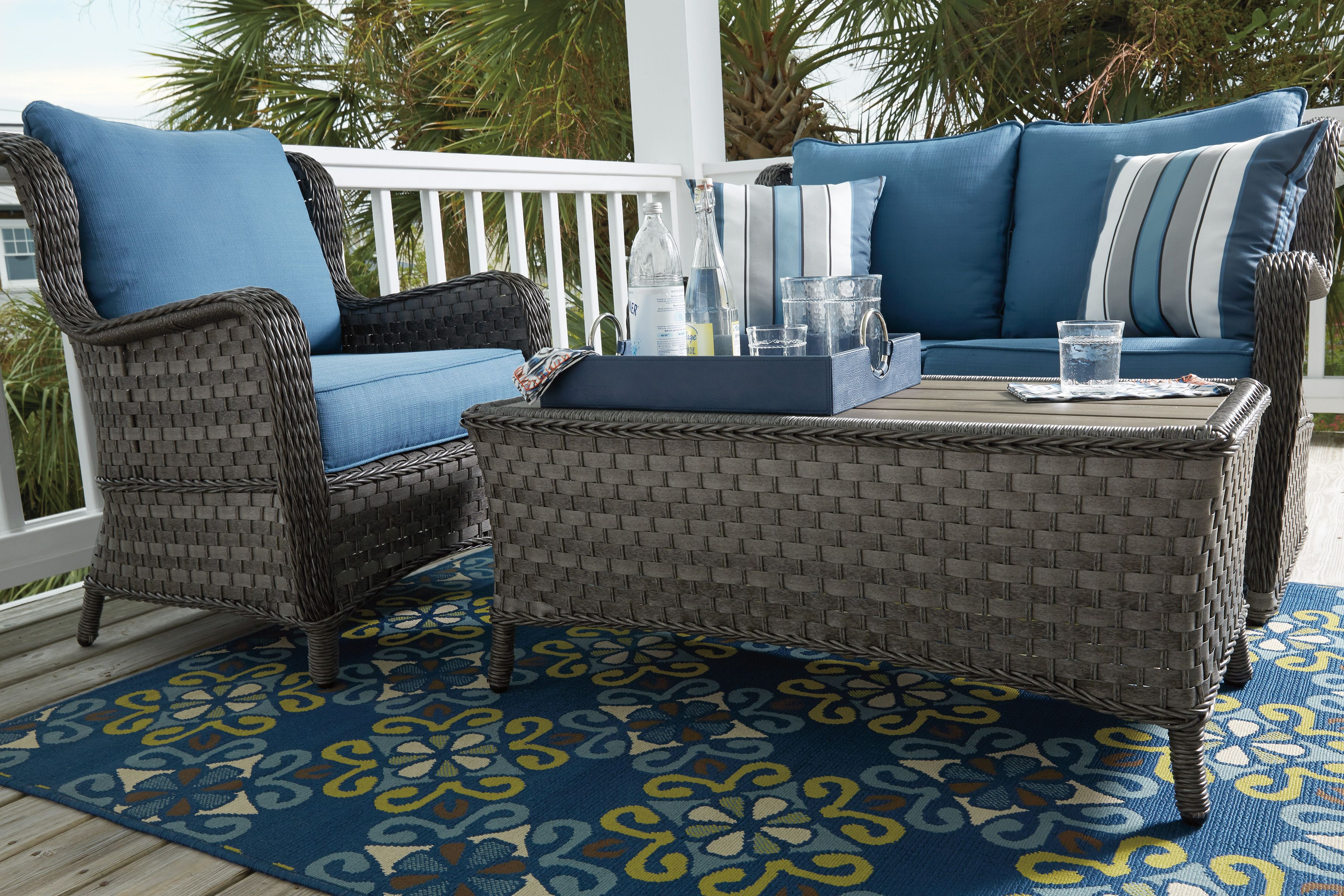 Abbots Court Collection Blue Patio Furniture Outdoor Furniture Furniture