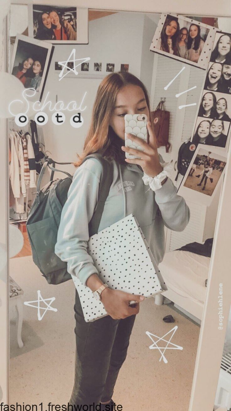 Outfit Inspiration - School Outfit - ootd  Creative instagram