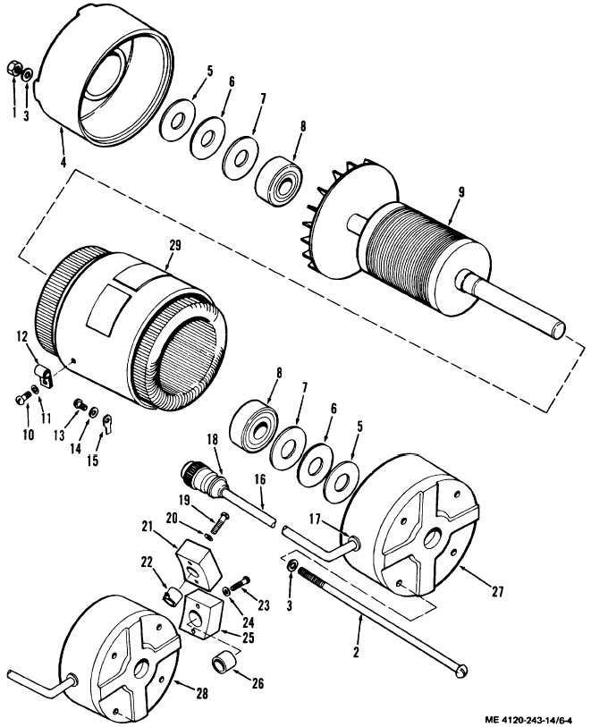 figure 6 4 fan motor exploded view illustration diagrams and Fan Motor Capacitor Wiring Diagram fan motor exploded view