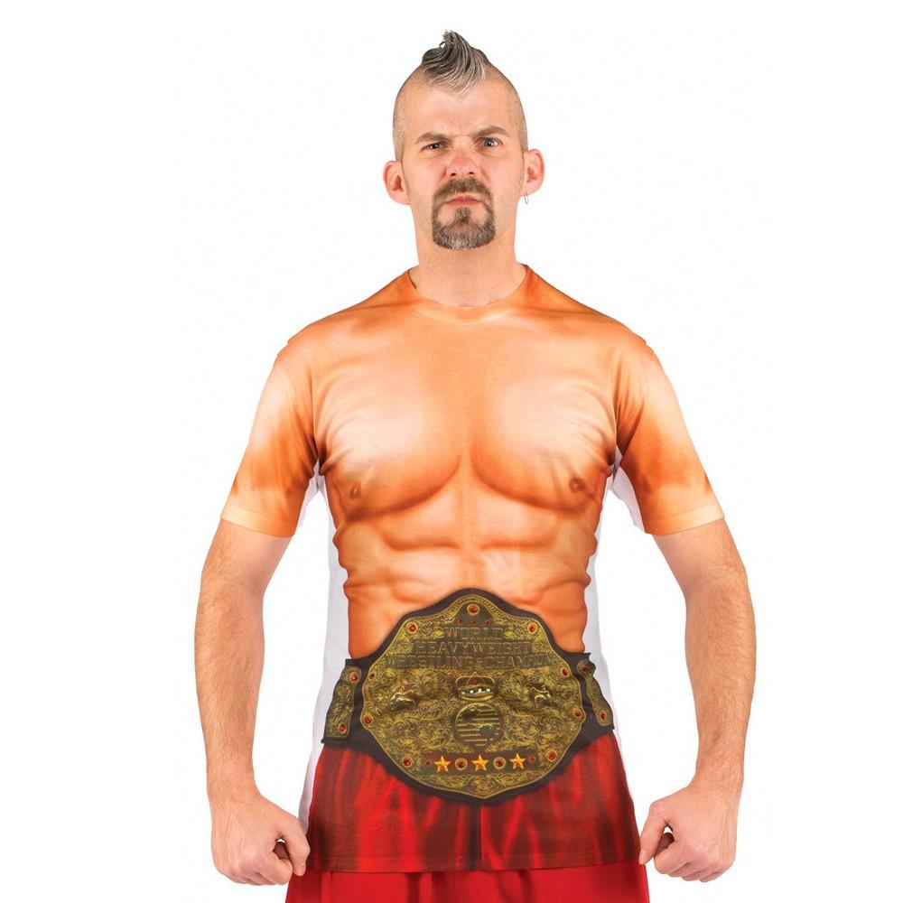 Halloween Menu0027s Wrestler Muscles Costume Shirt Size Xxl Beige  sc 1 st  Pinterest & Halloween Menu0027s Wrestler Muscles Costume Shirt Size: Xxl Beige ...