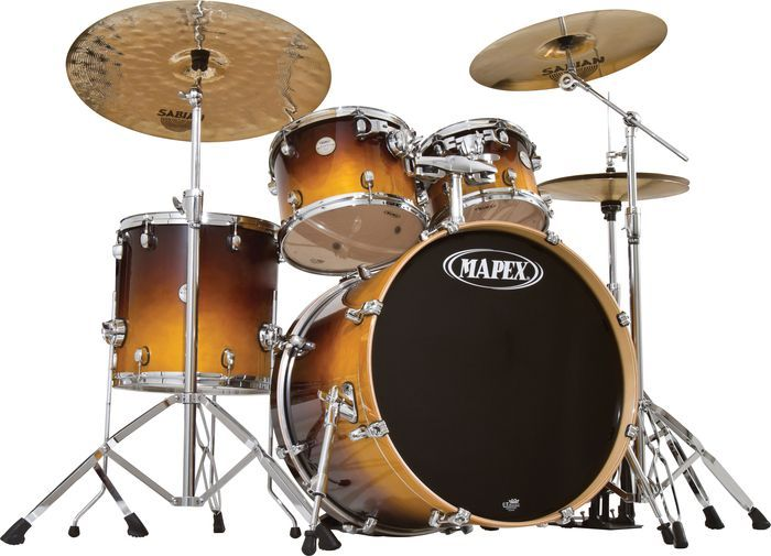 Special Offers Available Click Image Above: Mapex Meridian Birch 5-piece Standard Drum Set Amber Fade