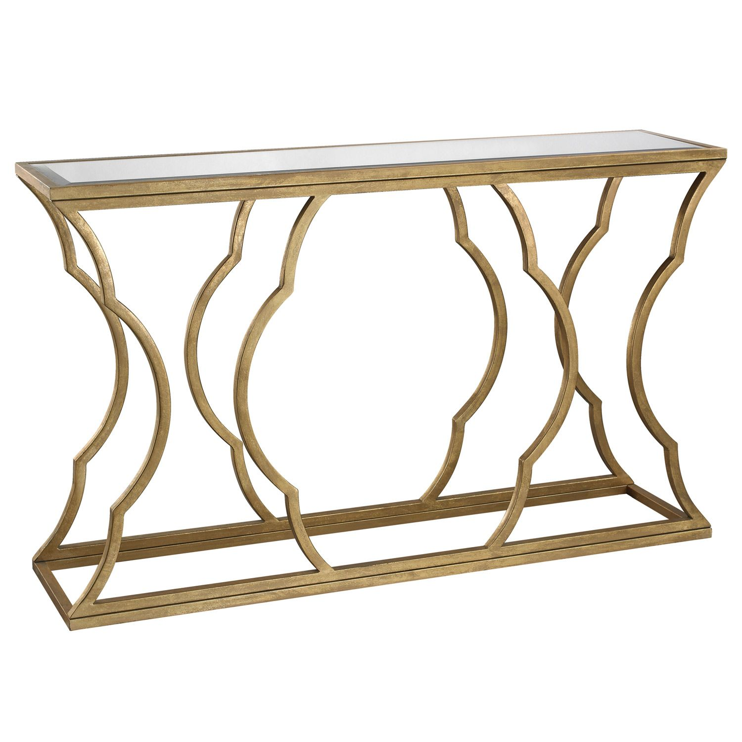 Metal Cloud Gold Console Table Zinc Door Home