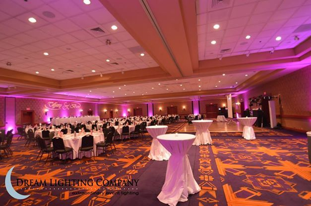 Pink Uplighting For Wedding Venue Radisson Green Bay Wi Radisson