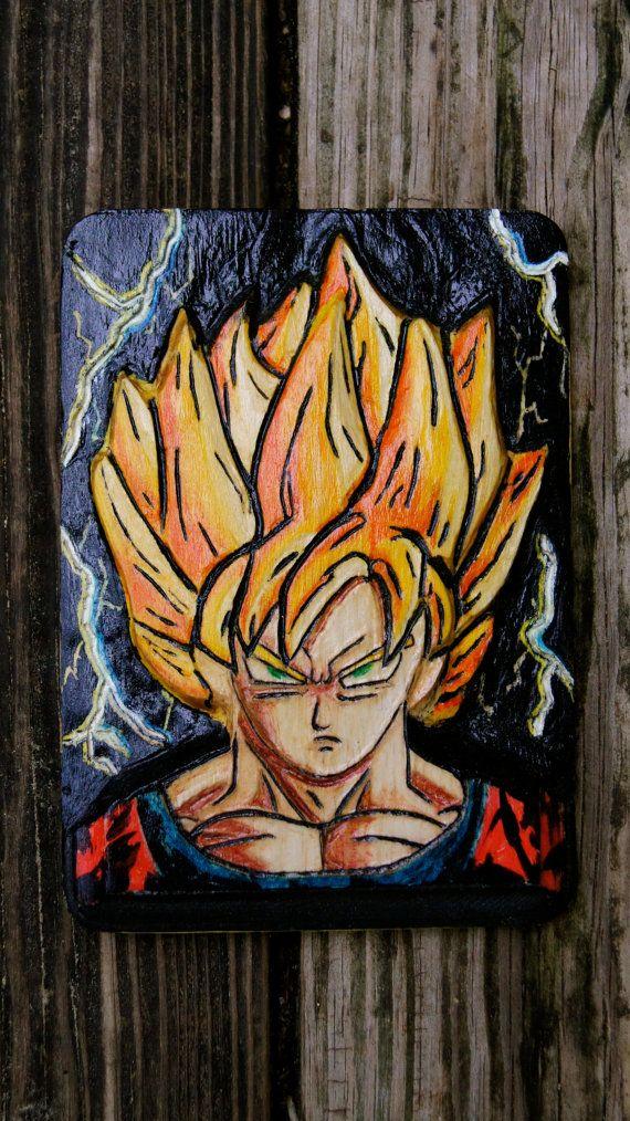 goku inspired by dragon ball z dragon ball z home decor wood work wood art wall art wood carving dragon ball z wall decor