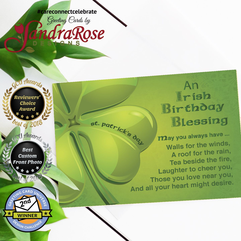 Irish Birthday Blessing On St Patrick S Day Card Irish Birthday Irish Birthday Blessing Birthday Blessings