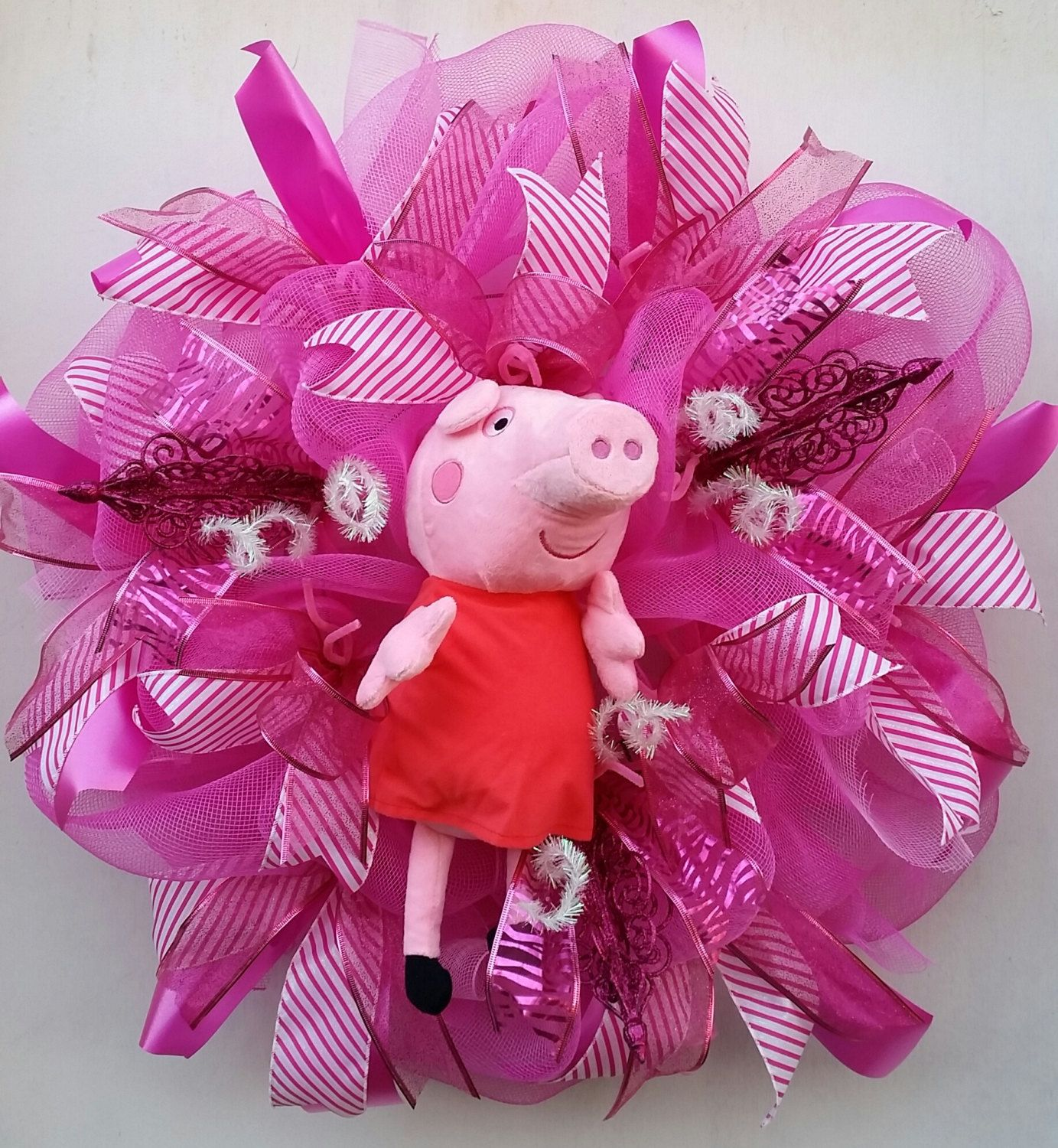 office valentine gifts. Peppa Pig Wreath I Love Home Bedroom Decor Office Pretty In Pink Birthday Valentine Gifts D