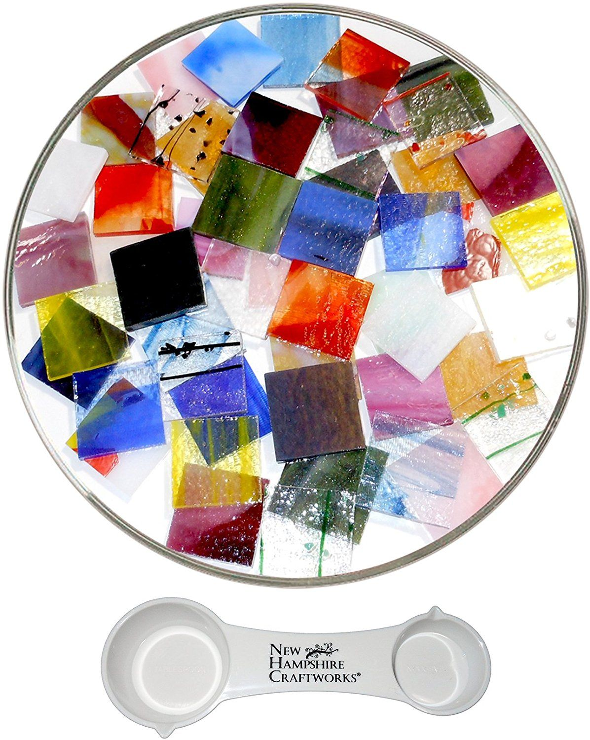 90 COE Made From Bullseye Glass by New Hampshire Craftworks Super Mega Fusible Glass Coarse Frit Sampler Pack Number 1-25 Colors