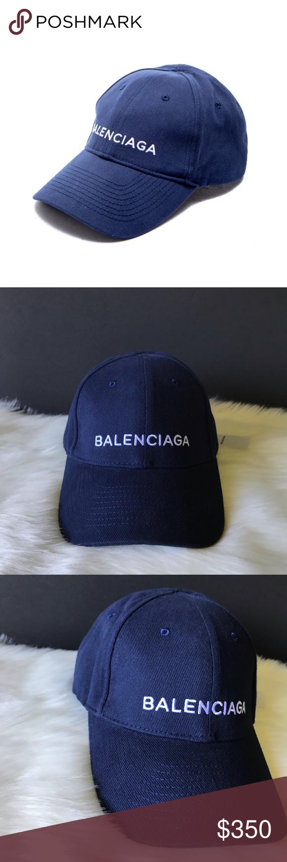 11799cb2547d8 Balenciaga Hat Cap Blue Balenciaga Hat Blue Composition  100% Cotton • Classic  baseball cap