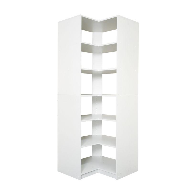 Multistore 3 Fixed Shelf 2 Adjustable Shelf Wardrobe Insert