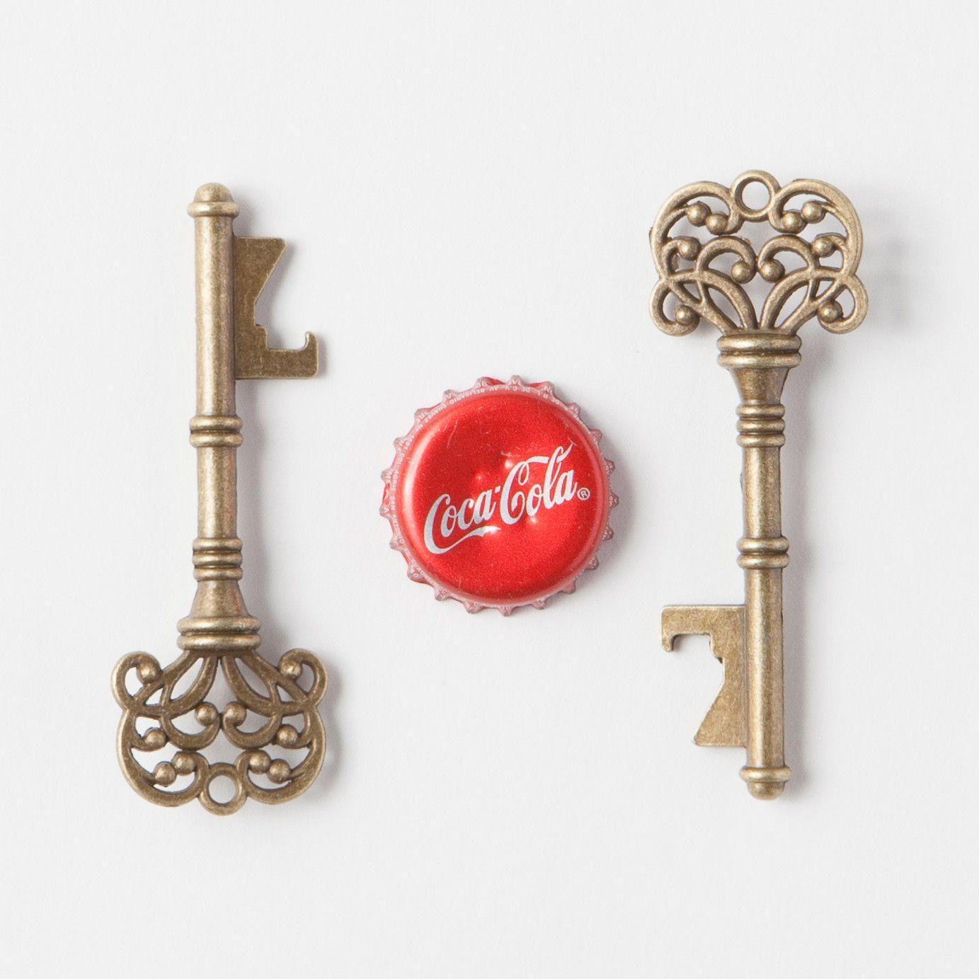 50 Key Bottle Openers - Antique Gold Vintage Skeleton Keys - Classic ...