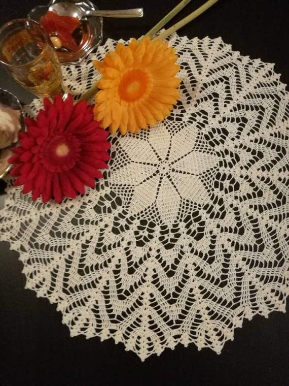 Check out this item in my Etsy shop https://www.etsy.com/listing/515742955/beige-crochet-lace-doily-tabletopper