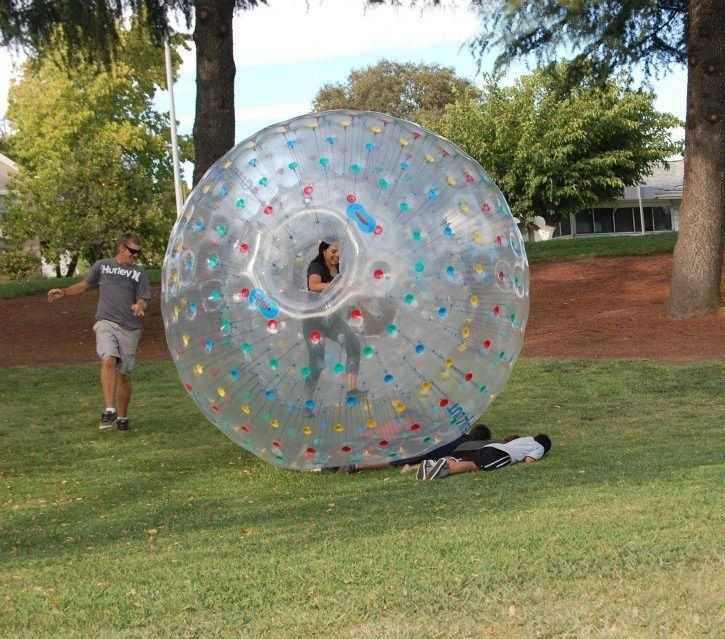 2.5M (8.2ft) Diameter Inflatable Zorb Ball Zorbing Human
