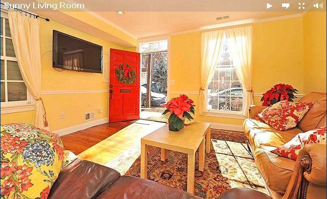 Fancy Orange Accent Wall In Living Room Frieze - Wall Art Design ...