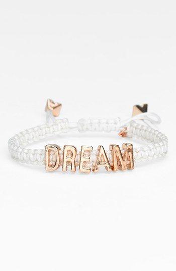 BCBGeneration 'Affirmation - Friendship' Macramé Bracelet available at #Nordstrom