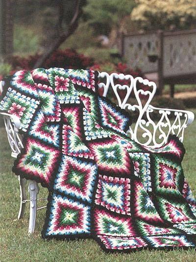 rengarenjk kare motifli modern koltuk örtüsü çeşiti | DEĞİŞİK ÖRGÜ ...
