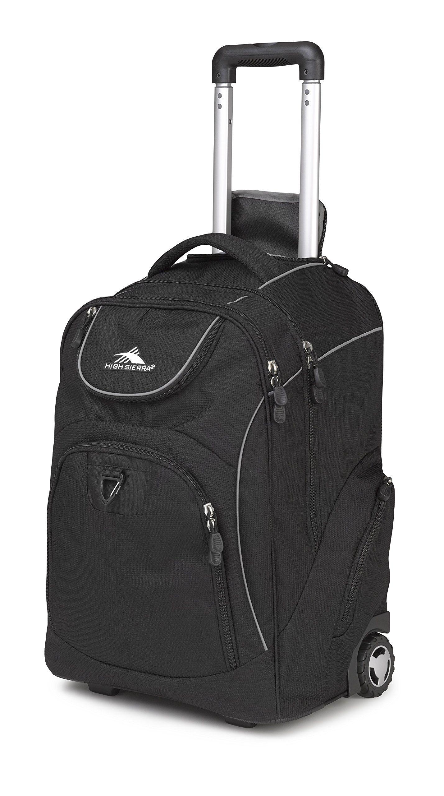 High Sierra Glide Wheeled Backpack Black