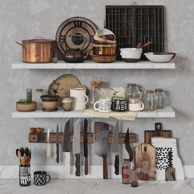 3d models: Decorative set - Old Kitchen Set by SWEET GUM Co. | decor ...