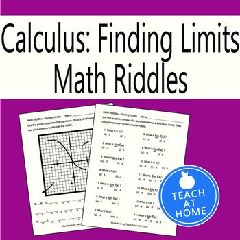 Halloween Math Riddle - Calculus - Using a Graph to find ...