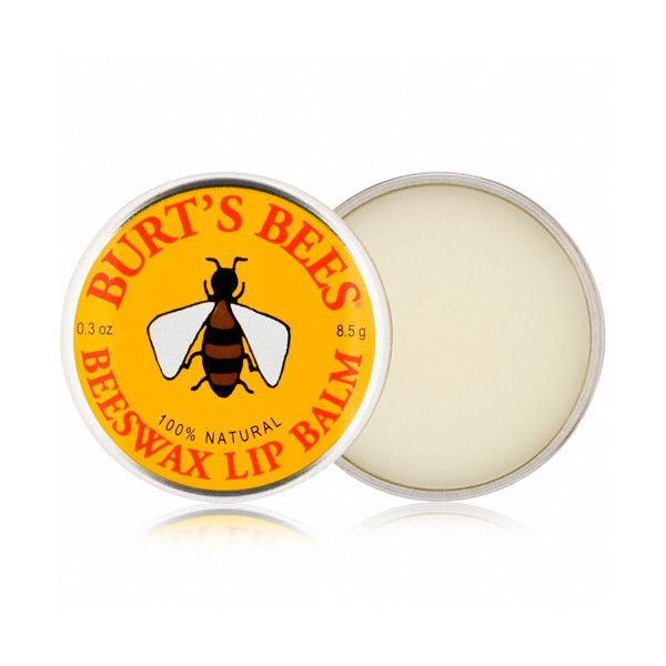 Burt's Bees Burt's Bees Beeswax Lip Balm - Tin qty of 3 (83 SEK) ❤ liked on Polyvore featuring beauty products, skincare, lip care, lip treatments, burt's bees and lip treatment
